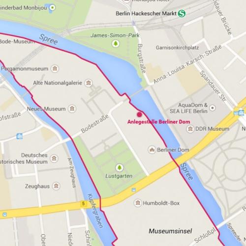 Anlegestelle Berliner Dom Grafik