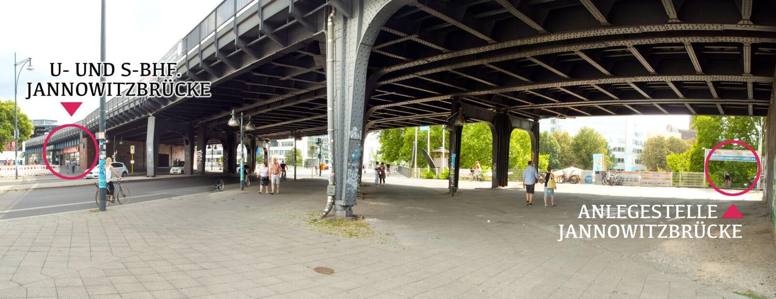 Anlegestelle Jannowitzbrücke - Wegbeschreibung