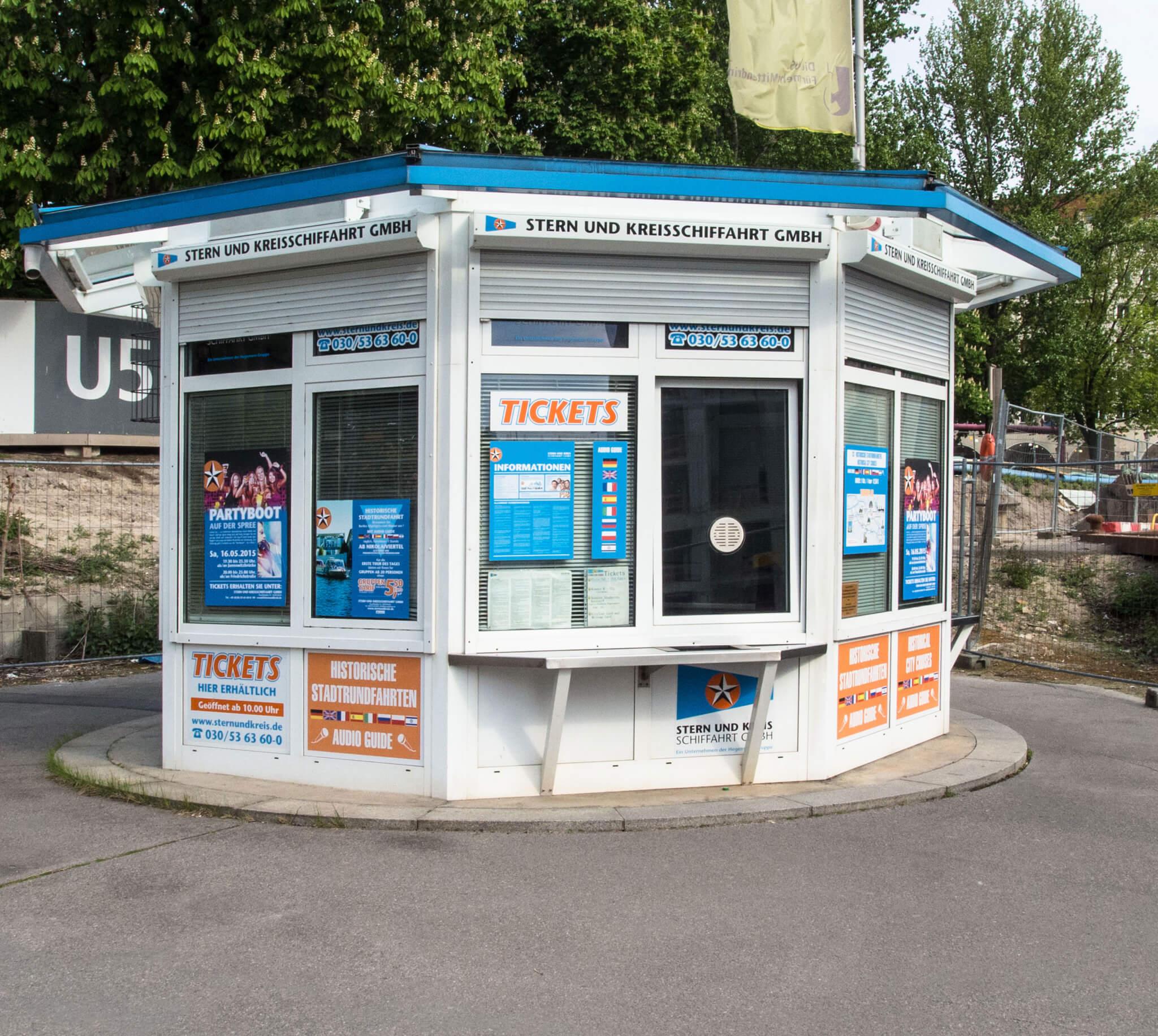 Anlegestelle Nikolaiviertel - Ticketpavillon