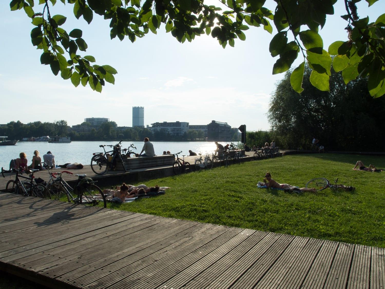 Rummelsburger Bucht - Schöne Orte Berlin - Entspannen an der Spree