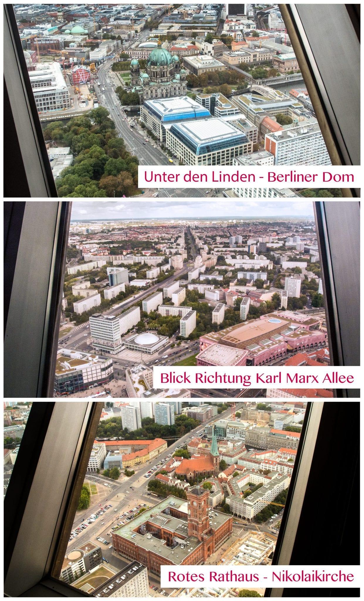Berliner Fernsehturm Tickets - Aussicht